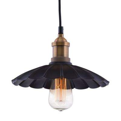 Hamilton Antique Black and Copper Ceiling Lamp