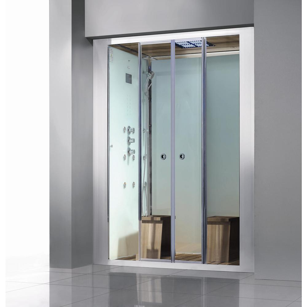 Athena Deluxe 2-Person Steam Shower Enclosure Kit with Sl...