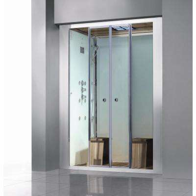 Deluxe 2-Person Steam Shower Enclosure Kit with Sliding Doors