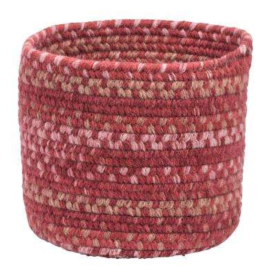 Acre Small Space Wool Basket Scarlet Red 10 in. x 10 in. x 8 in.