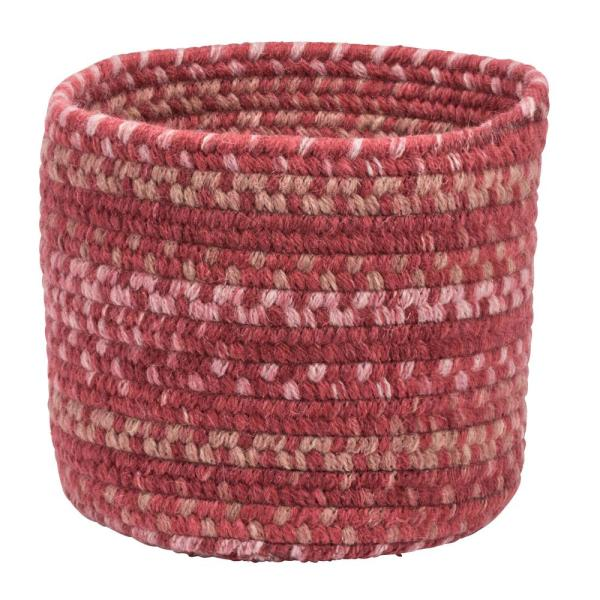 Colonial Mills Acre Small E Wool Basket Scarlet Red 10 In X