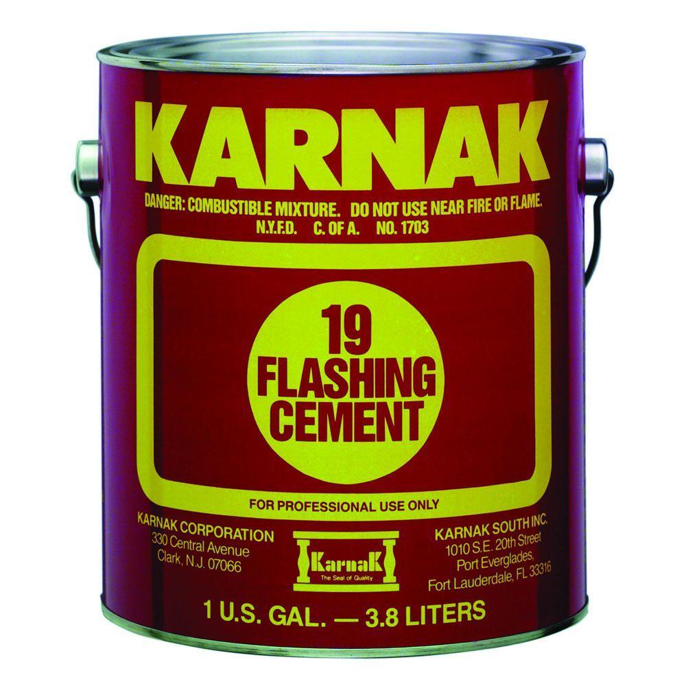 Karnak 1 Gal Asphalt Flashing Cement Roofing Adhesive 19