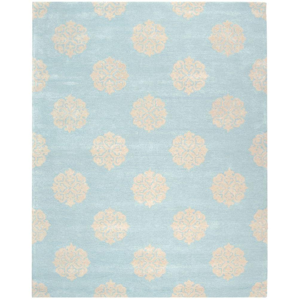 Safavieh Soho Turquoise/Yellow 7 ft. 6 in. x 9 ft. 6 in. Area Rug
