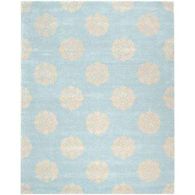Soho Turquoise/Yellow 7 ft. 6 in. x 9 ft. 6 in. Area Rug