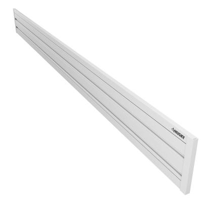 8 in. x 50 in. Slat Wall 2-Panel Pack with Trim