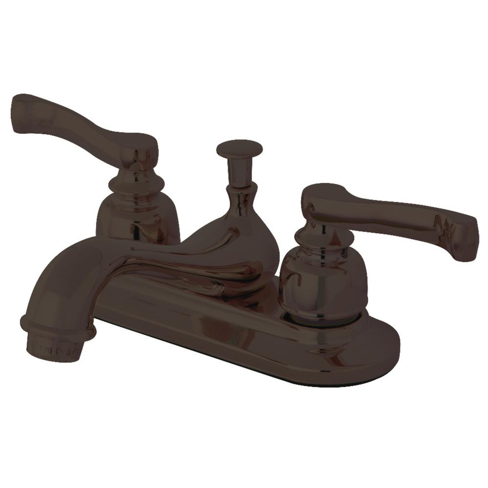 Kingston Brass Modern 4 in. Centerset 2-Handle Bathroom Faucet in Oil Rubbed Bronze