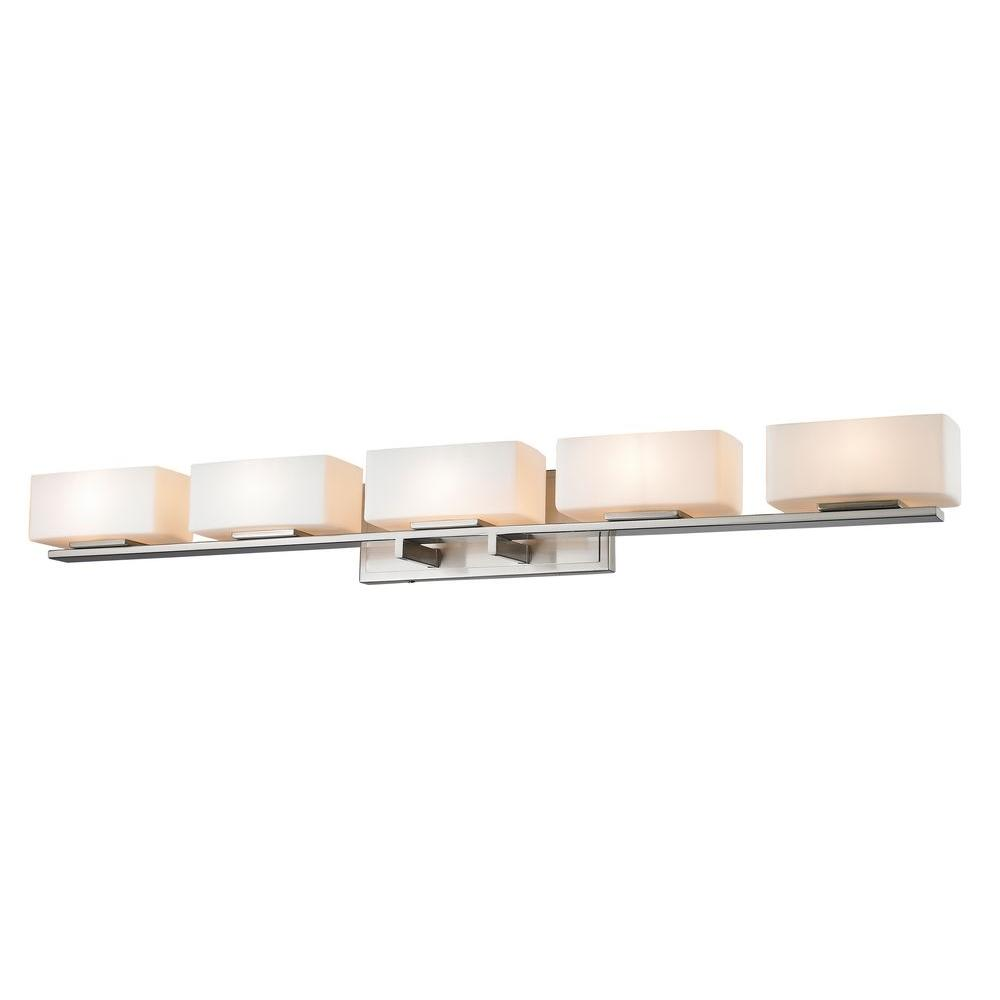 Vincentina 5-Light Brushed Nickel Bath Vanity Light