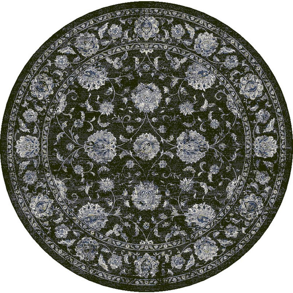 Dynamic Rugs Ancient Garden Charcoal Silver 7 Ft 10 In