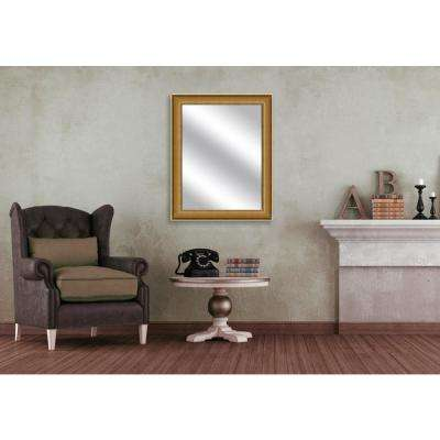 31.5 in. x 25.5 in. Antique Gold Framed Mirror
