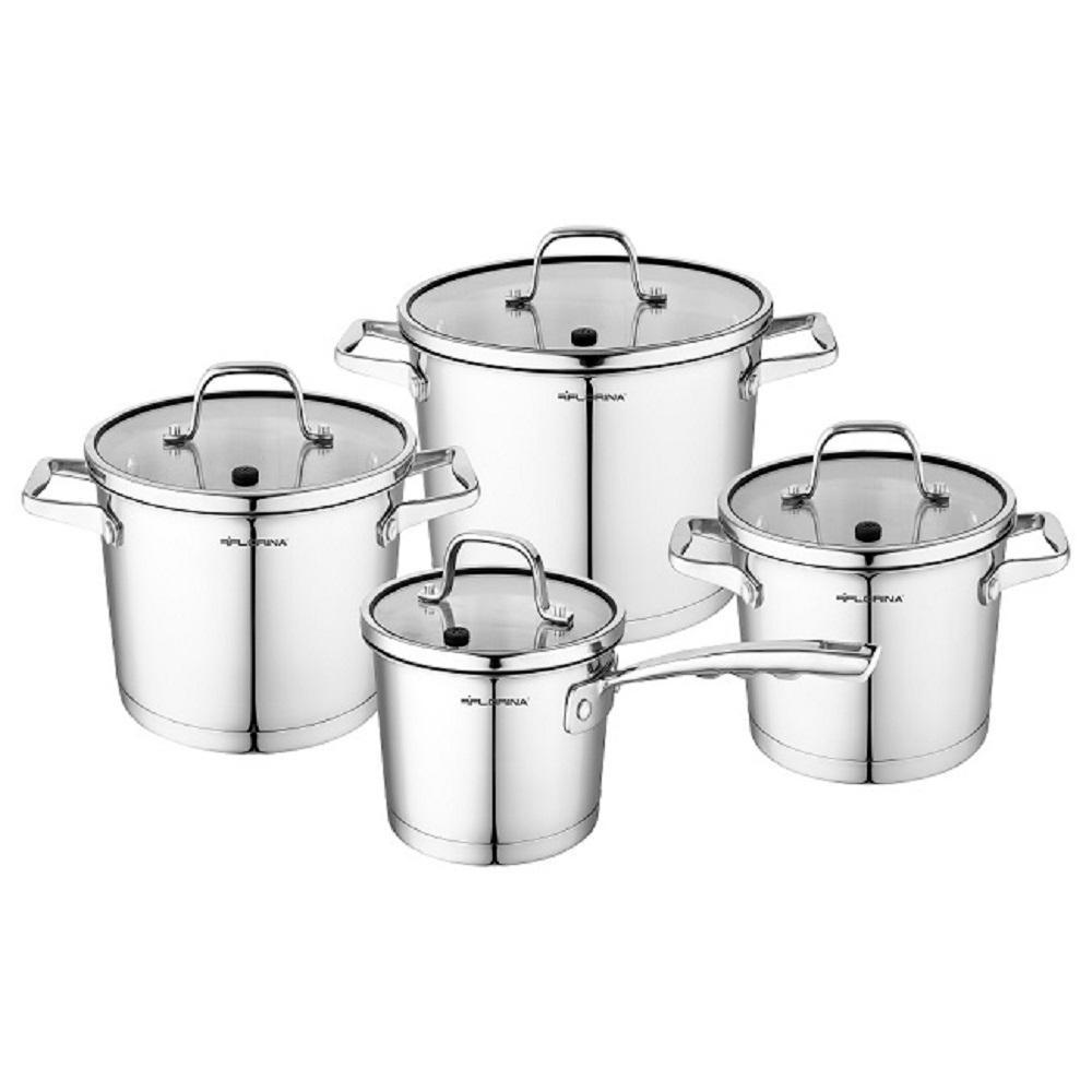8-Piece Stainless Steel Nonstick Dishwasher Safe Cookware Set