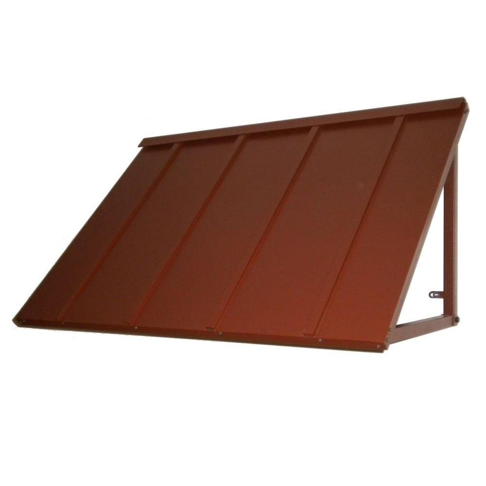 Beauty-Mark Awntech's 6 ft. Houstonian Metal Standing Seam Awnings (80 in. W x 24 in. H x 36 in. D) in Terra Cotta