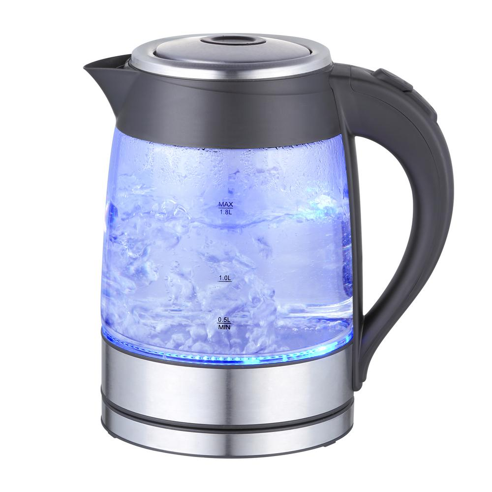 MegaChef MegaChef 1.8 l Glass and Stainless Steel Electric Tea Kettle