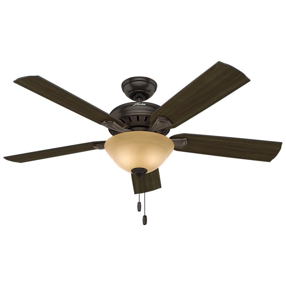 Ceiling Fans Product : Hunter fletcher in indoor premier bronze bowl ceiling