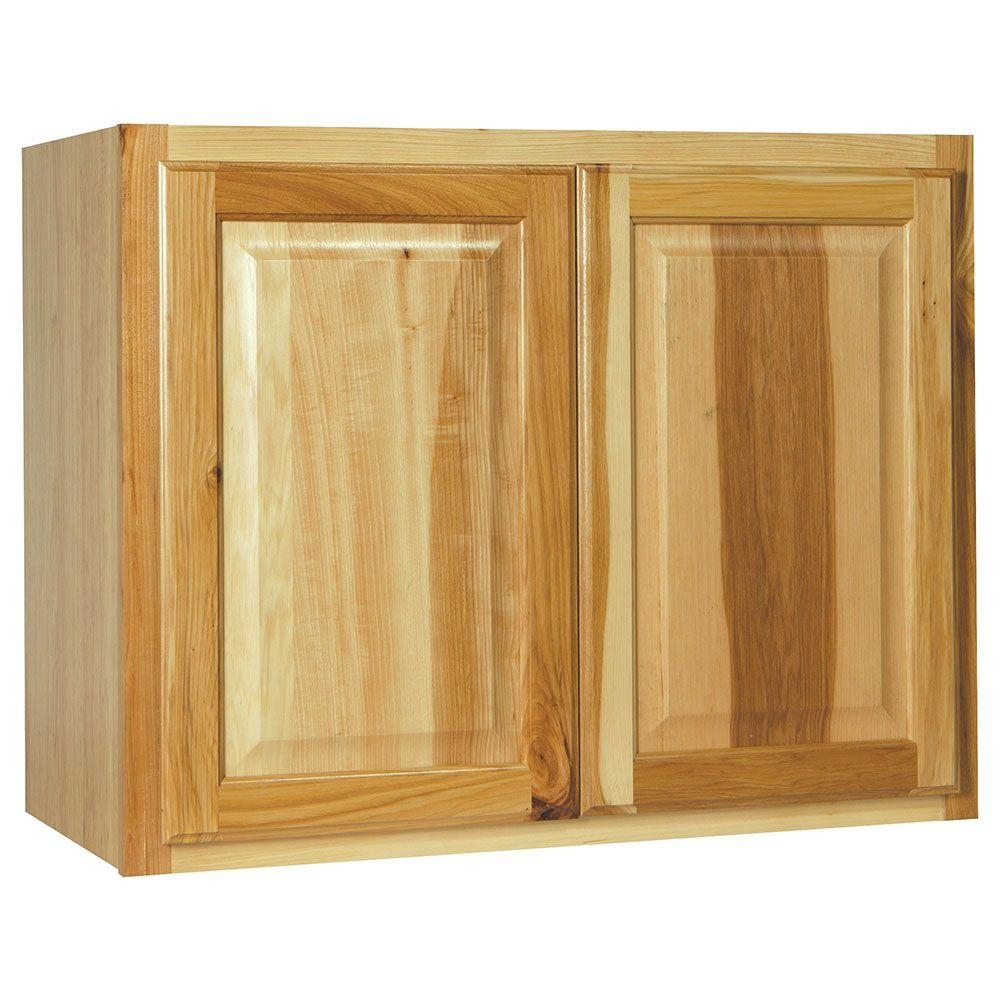 Hampton Assembled 30x23.5x15 in. Wall Bridge Kitchen Cabinet in Natural Hickory