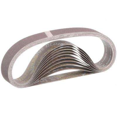 1-1/8 in. x 21 in. 120-Grit Abrasive Belt (10-Pack)