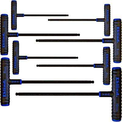 9 in. Series Power-T T-Handle Ball-Hex Key Set with Pouch Size 2 mm to 10 mm (8-Piece)