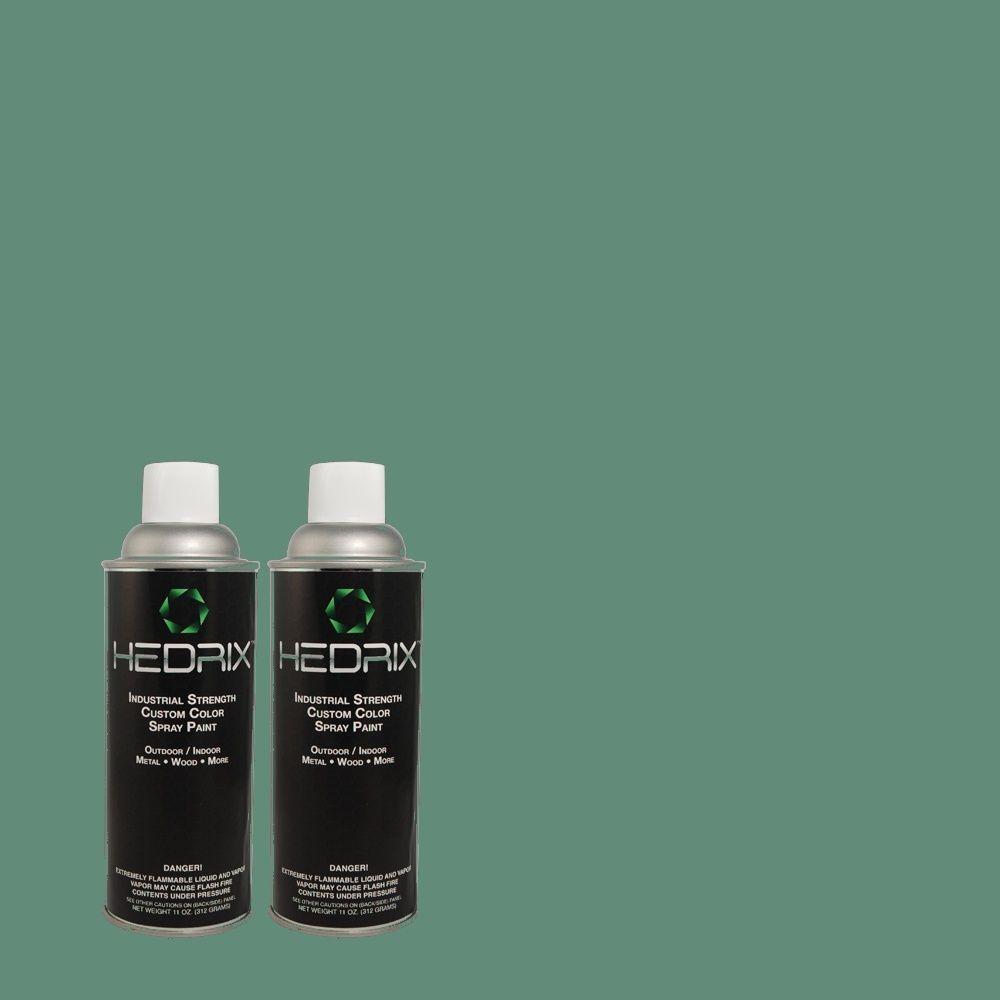 Hedrix 11 oz. Match of 2A53-5 Lancaster Flat Custom Spray Paint (2-Pack)