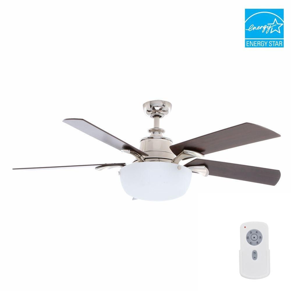 Hampton bay winfield 54 in indoor liquid nickel ceiling fan with hampton bay winfield 54 in indoor liquid nickel ceiling fan with light kit and remote mozeypictures Gallery