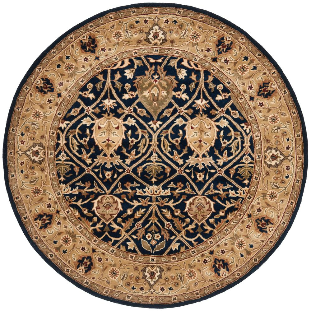 Persian Legend Blue/Gold 6 ft. x 6 ft. Round Area Rug