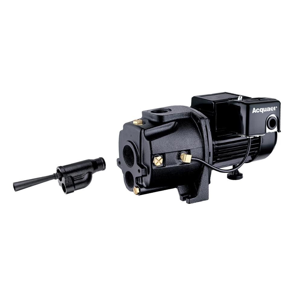 Eco Flo 1 Hp Convertible Deep Well Jet Pump Efcwj10 The Home Depot New 30 50 Psi Adjustable Pressure Switch Water Control Valve Dual Voltage Cast Iron