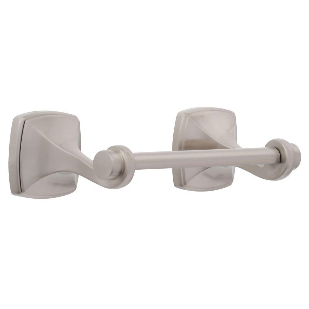 lovely idea single post toilet paper holder. Delta Mandara Toilet Paper Holder in SpotShield Brushed Nickel 76250 BN  The Home Depot