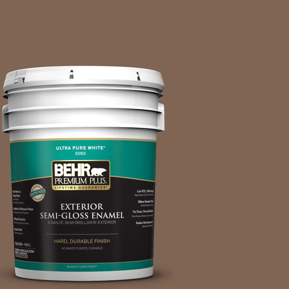 BEHR Premium Plus 5-gal. #N240-7 Joshua Tree Semi-Gloss Enamel Exterior Paint