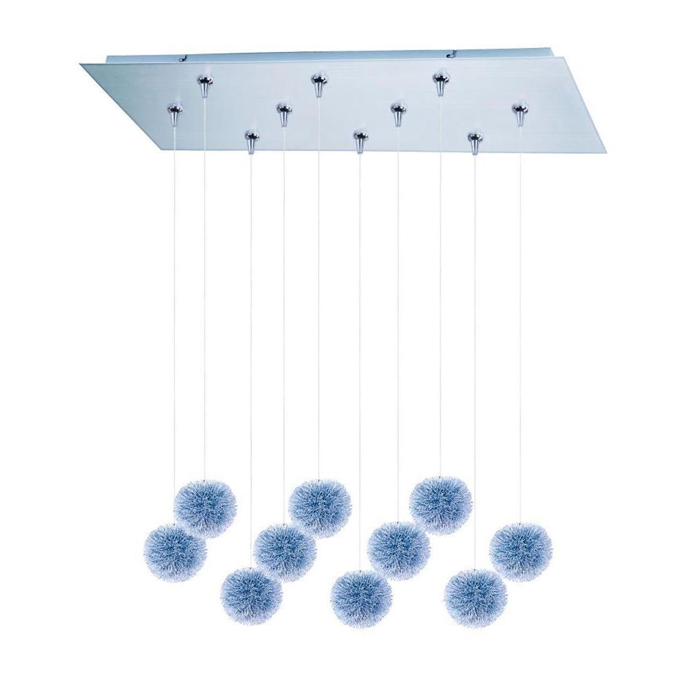 CLI Coit 10-Light Brushed Aluminum Xenon Pendant