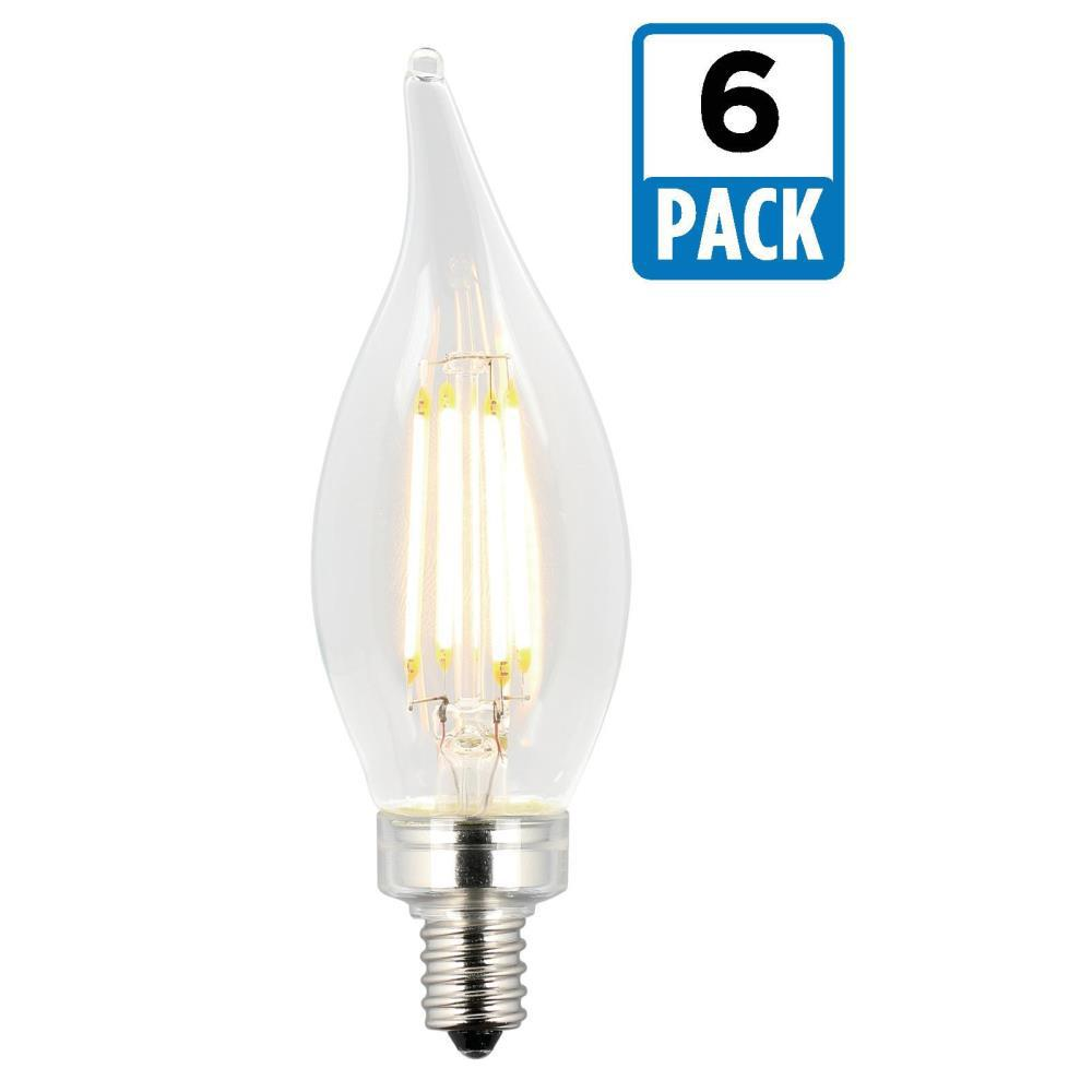 Ecosmart 40w Equivalent Soft White G25 Dimmable Filament: Westinghouse 40W Equivalent Soft White CA11 Dimmable