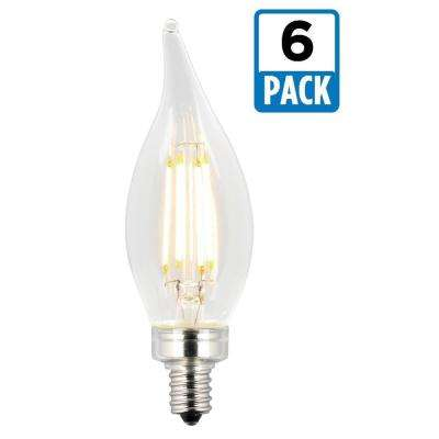 40W Equivalent Soft White CA11 Dimmable Filament LED Light Bulb (6-Pack)