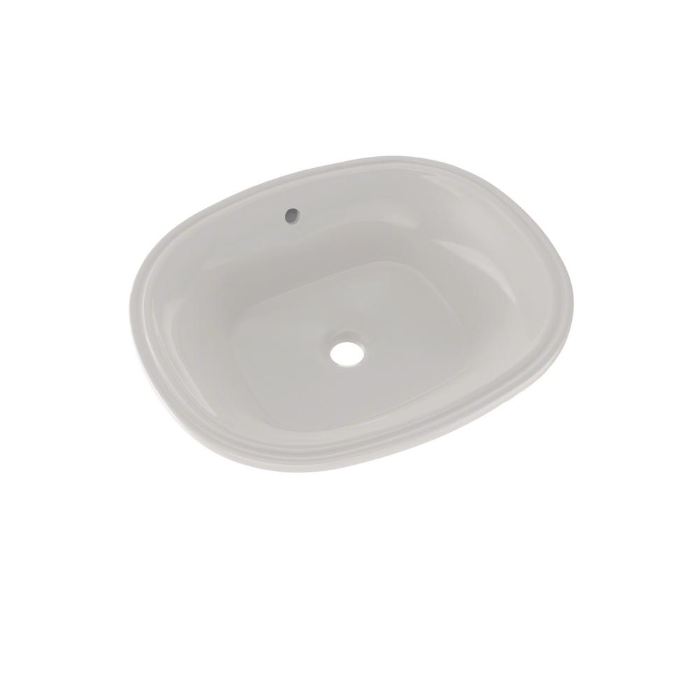 Toto Maris 18 In Undermount Bathroom Sink In Cefiontect Colonial White Lt483g 11 The Home Depot