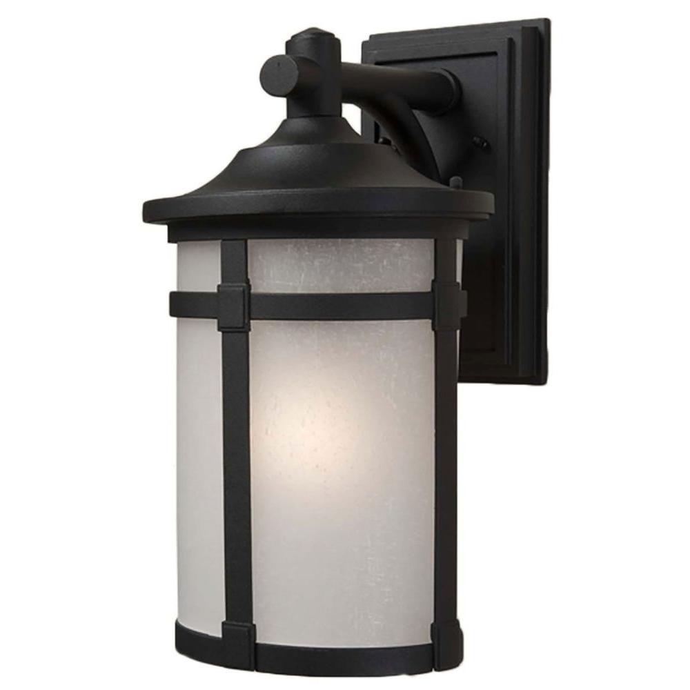 ARTCRAFT Beyer 1-Light Black Outdoor Wall Sconce