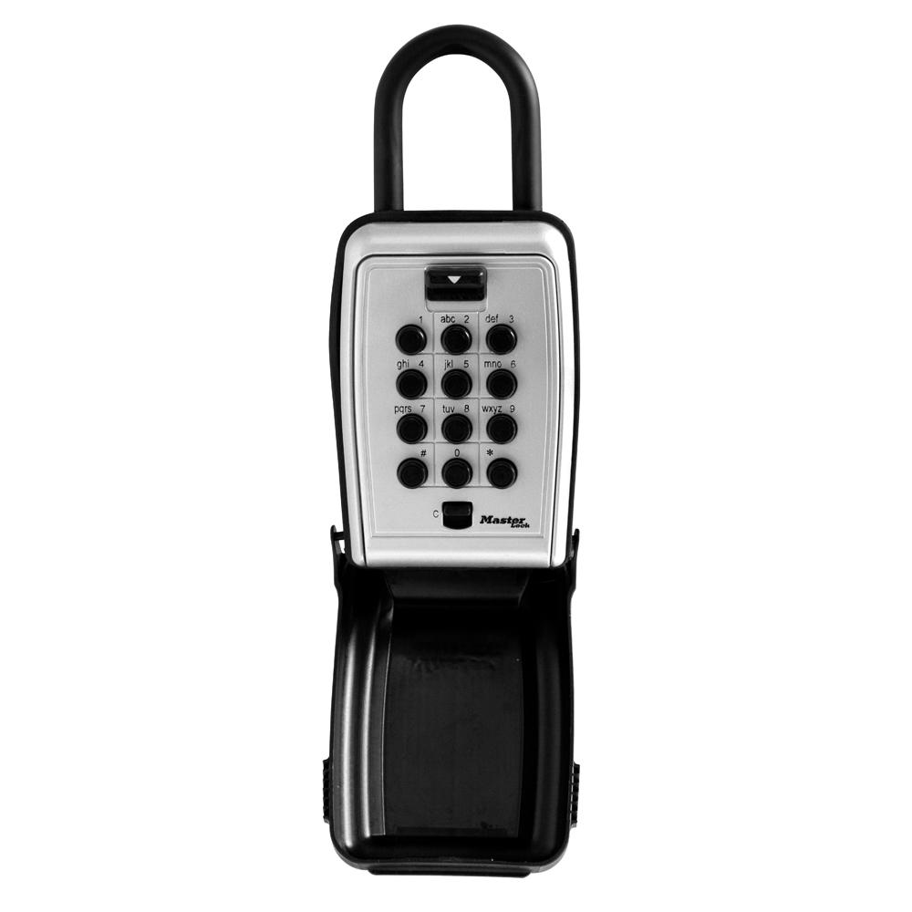 Master Lock 5422D 7 9 cu in  Set Your Own Combination Portable Push Button  Lock Box