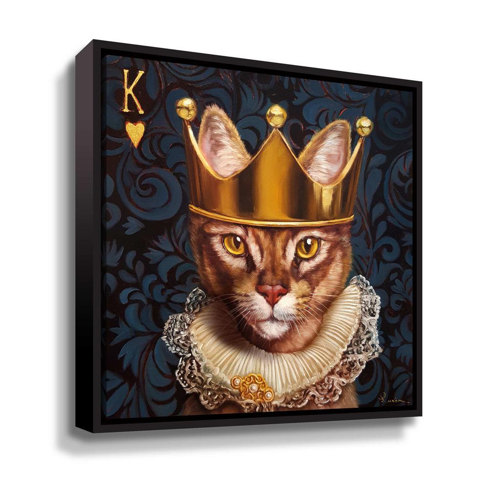 ArtWall 'King of hearts' by Lucia Heffernan Framed Canvas Wall Art