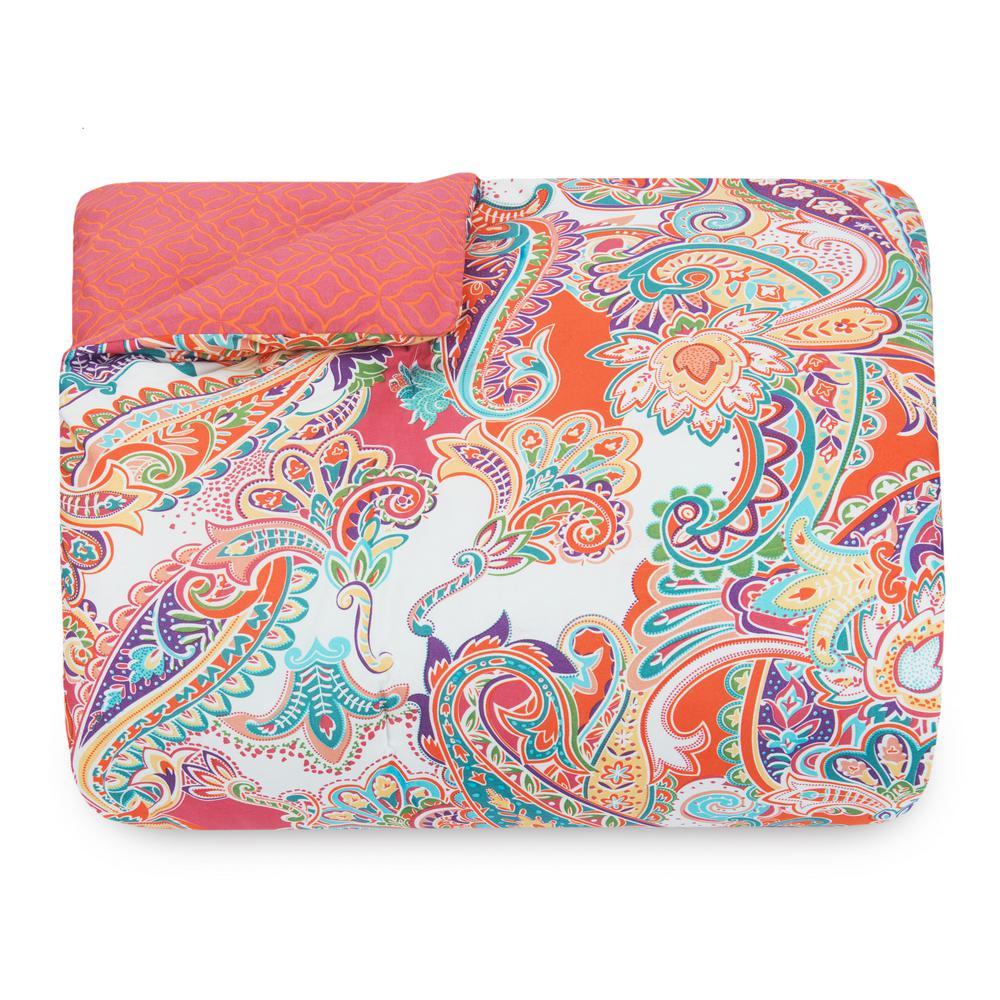 Nicole Miller Kids 5-Piece Twin Multi Paisley Comforter Set