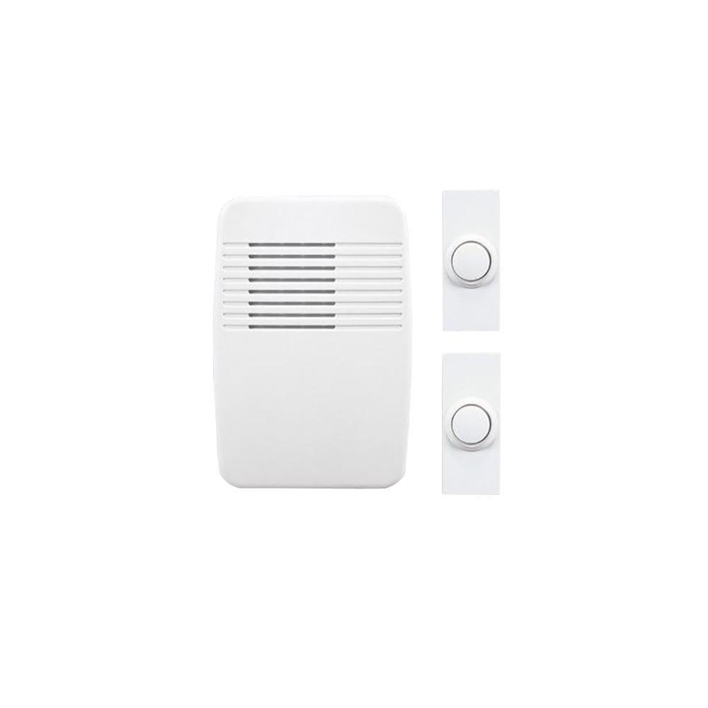 Heath Zenith Wireless Plug In Door Chime Kit 245833 The