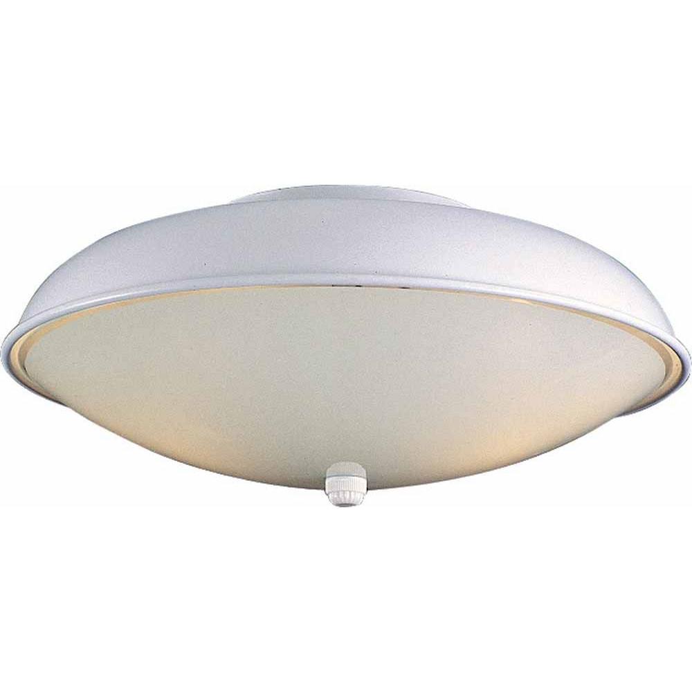 2-Light White Semi-Flush Mount