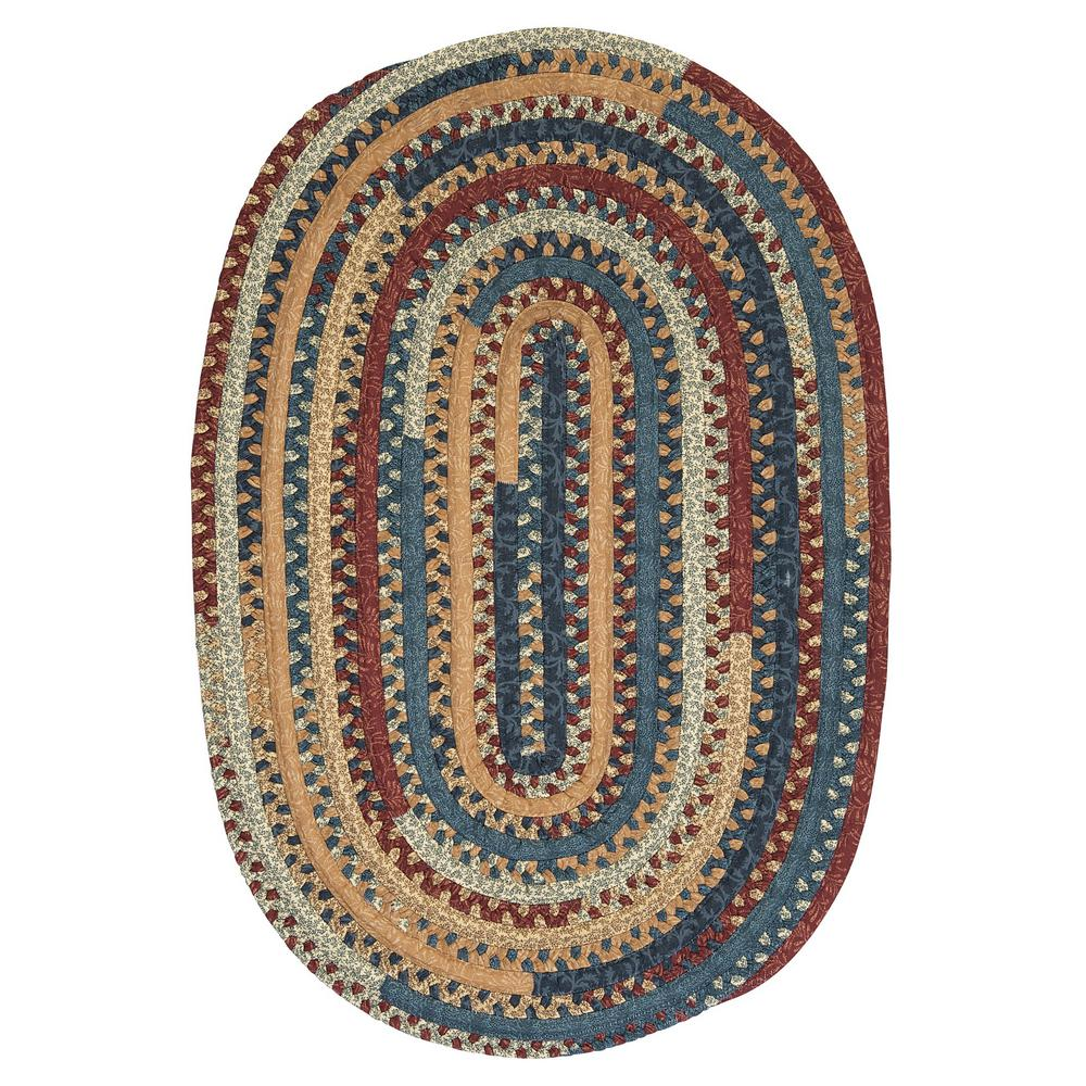 Owen Summer 5 ft. x 8 ft. Oval Braided Area Rug