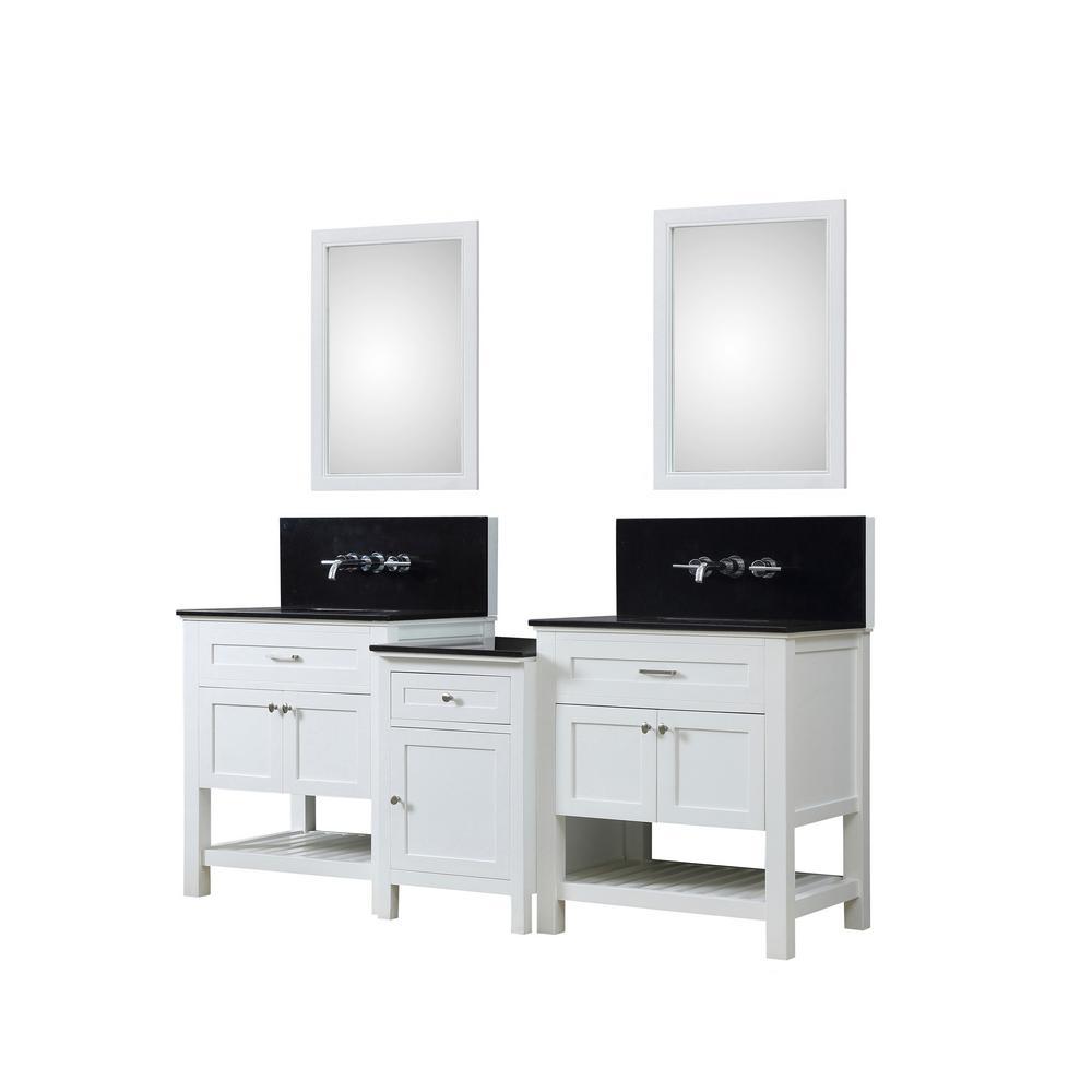 Direct Vanity Sink Bath Makeup Vanity White Granite Vanity Top Black White