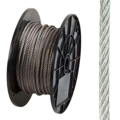 3/16 in. x 125 ft. Stainless Steel Plated Uncoated Wire Rope