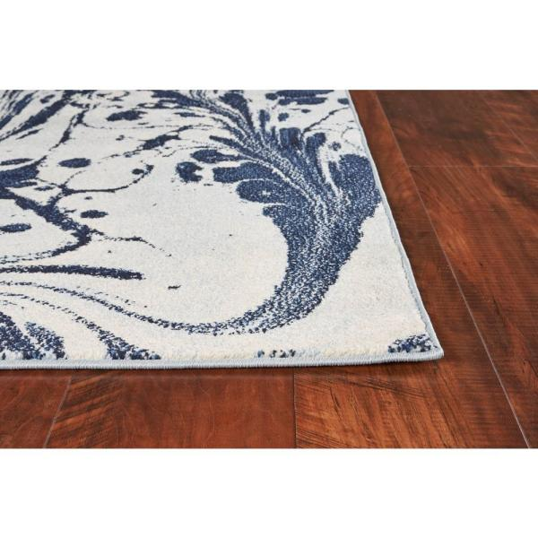 Kas Rugs Watercolors Blue Marble 8 Ft X 10 Ft Area Rug Wat623283x102 The Home Depot