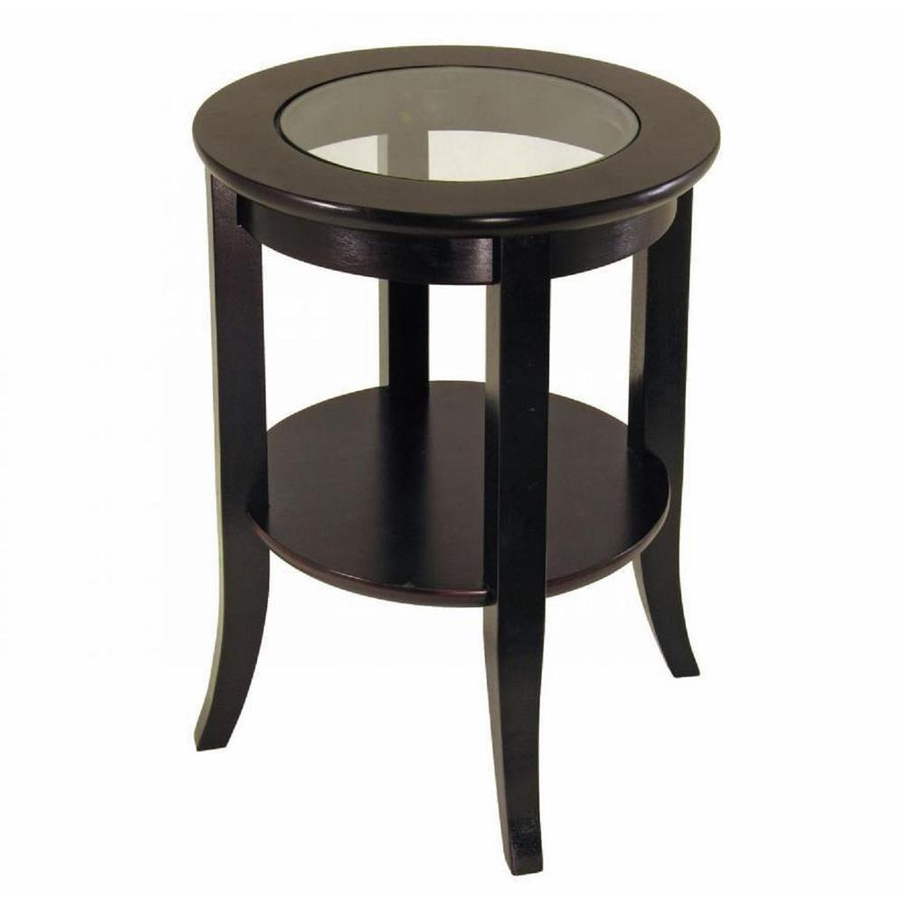 Frenchi Home Furnishing Genoa Espresso End Table
