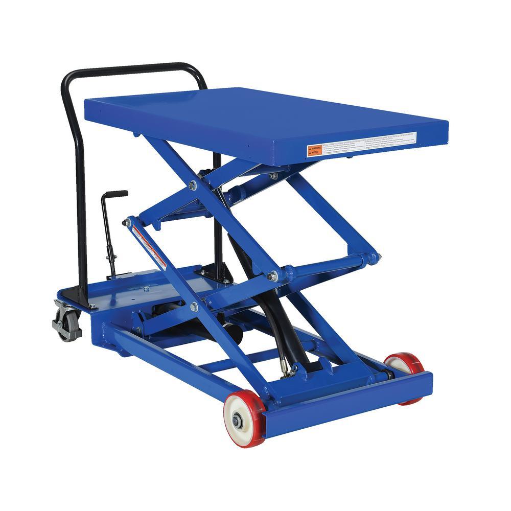 1,000 lb. 24 x 40.5 in. Premium Double Scissor Cart