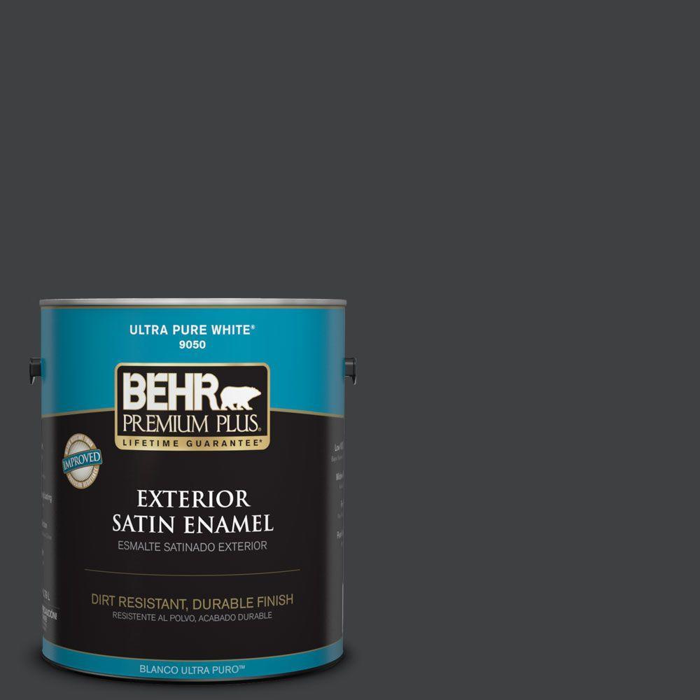 Behr Exterior Paint Home Depot behr premium plus 1gal. bxc02 bauhaus satin enamel exterior