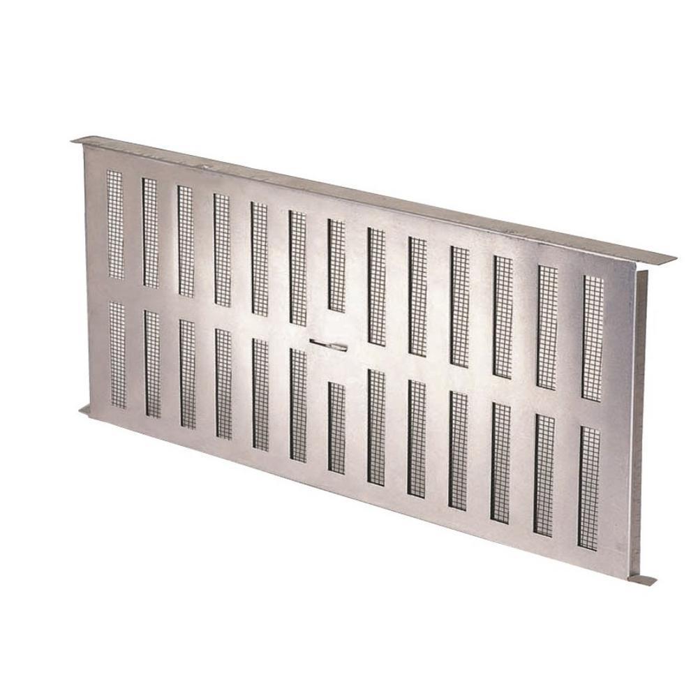 16 in. x 8 in. Aluminum Foundation Vent with Damper (12 per Carton)