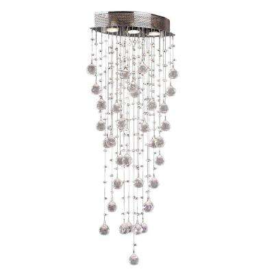 Icicle 3-Light Chrome Flushmount with Clear Crystal