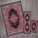 Ariana Black 5 ft. x 7 ft. 3-Piece Rug Set