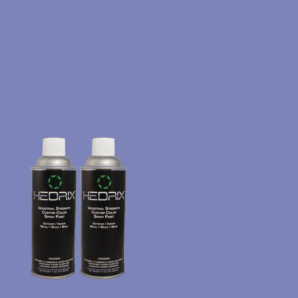 Hedrix 11 oz. Match of MQ4-25 Blue Iolite Semi-Gloss Custom Spray Paint (8-Pack)