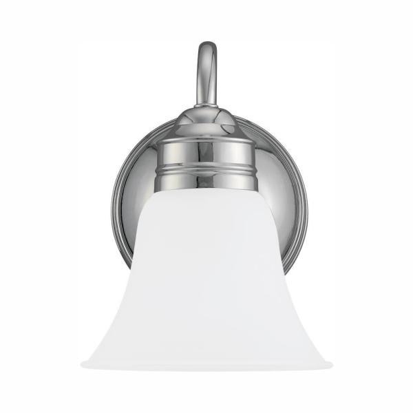 Gladstone 1-Light Chrome Sconce with LED Bulb