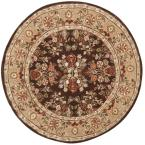 Total Performance Brown/Green 6 ft. x 6 ft. Round Area Rug