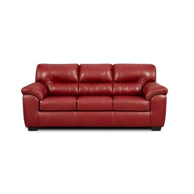 Gardner 90 in. Austin Red Polyester 3-Seater Queen Sleeper Sofa Bed with Flared Arms